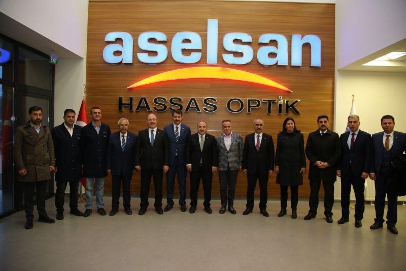 Sanayi ve Teknoloji Bakanımız Mustafa Varank'ın Aselsan Hassas Optik A.Ş Ziyareti