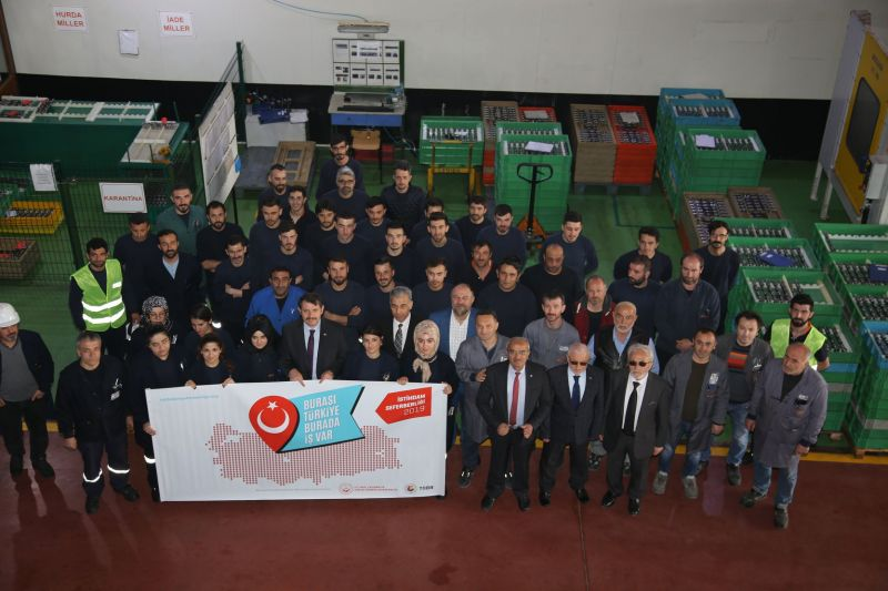 Valimiz Salih Ayhan, OSB'de ESTAŞ'ın yeni fabrikasının temel atma törenine katıldı.